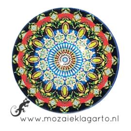 Cabochon/Plaksteen Glas 30 mm Mandala Multicolor 23212