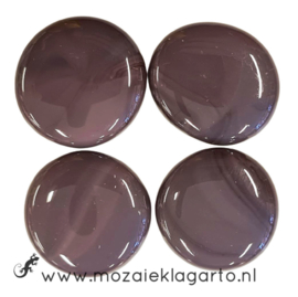 Glas Nugget 30-38 mm per 4 Opaal Paars 4522