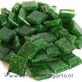 Basis  glastegeltjes 1 x 1 cm per 50 gram Olijfgroen 026