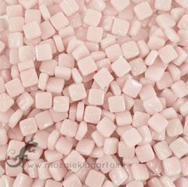 Mozaïek tegeltjes glas 8 x 8 mm Opaal per 50 gram Pastel Roze 009