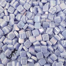 Mozaïek tegeltjes glas 8 x 8 mm Parelmoer per 50 gram Paarsblauw 062P