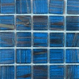 Goudader glastegels Blauw per 25 tegels 072