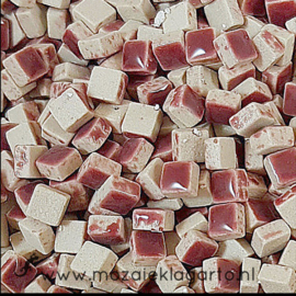 Mini Keramiek tegeltjes 5x5 mm per 15 gram Bordeaux 047