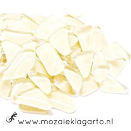 Mozaiek puzzelstukjes Soft Glas 100 gram Ivoor 011