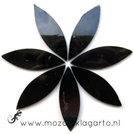 Bloemblaadjes Tiffanyglas 16x50x3 mm per 7 Zwart 026-2