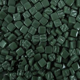 Mozaïek tegeltjes glas 8 x 8 mm Opaal per 50 gram Donkergroen 087