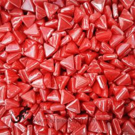 Glasmozaiek Driehoekjes 10 mm Parelmoer per 50 gram Oranjerood 106P
