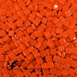 Mozaïek tegeltjes glas 8 x 8 mm Opaal per 50 gram Chili 108