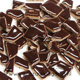 Keramiek Puzzelstukjes per 100 gram Bruin 024