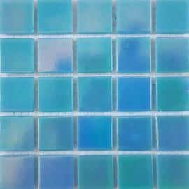 Aqua Parelmoer 2 x 2 cm per 25 tegels