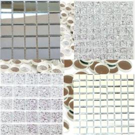 Spiegel glas Zilver