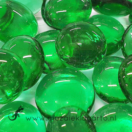 Glas Nugget 17-22 mm Transparant 50 gram Smaragdgroen 4470