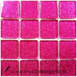 Glitter 2x2 cm per 16 tegels Fuchsia 033