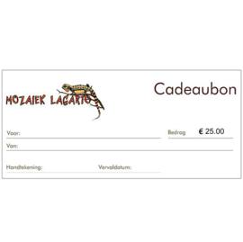 Cadeaubon € 25.00
