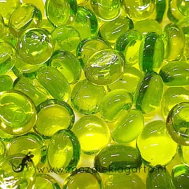 Glas Nugget Mini 9-13 mm Transparant 50 gram Limoen 4360