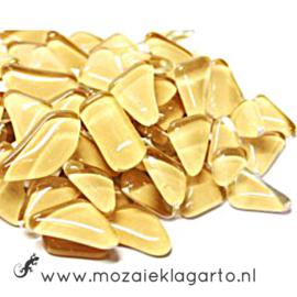 Mozaiek puzzelstukjes Soft Glas 100 gram crème 012