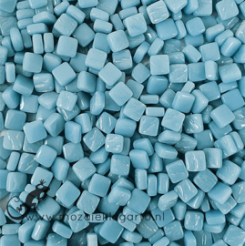 Mozaïek tegeltjes glas 8 x 8 mm Opaal per 50 gram Aqua 063