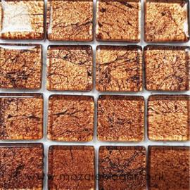 Folie glas per 16 tegels Brons 1015