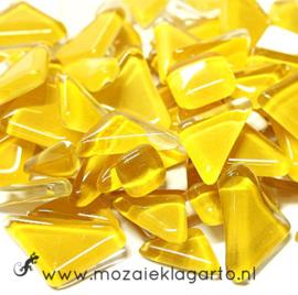 Mozaiek puzzelstukjes Soft Glas 100 gram Geel 026