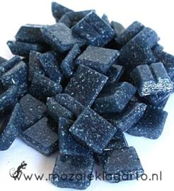 Basis glastegeltjes 1 x 1 cm per 50 gram Marineblauw 073