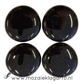 Glas Nugget 30-38 mm per 4 Opaal Zwart 4425
