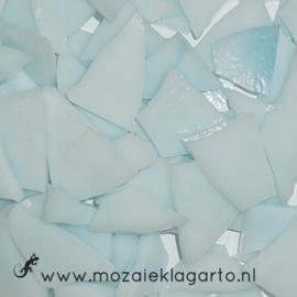 Gekleurde glasscherven Semi Translucent Licht Aqua/Wit Y8335st