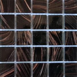 Goudader glastegels Zwart per 25 tegels 061