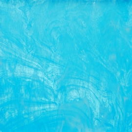 Glasplaat 20 x 20 cm  Aqua - Wit Wispy Y401w