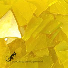 Gekleurde glasscherven  Geel Transparant  CAG012t