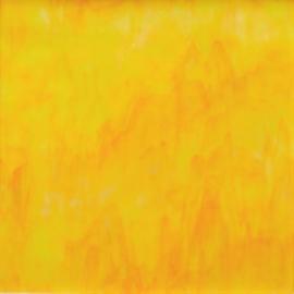 Glasplaat 20 x 20 cm Geel-Oranje Semi Translucent  Y168 st
