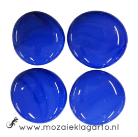Glas Nugget 30-38 mm per 4 Opaal Blauw 4498