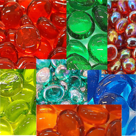 Glas Nuggets 9-13 mm