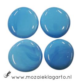 Glas Nugget 30-38 mm per 4 Opaal Aqua 4502