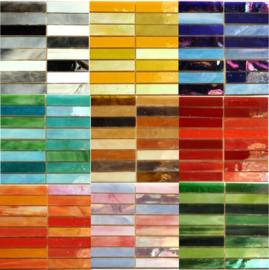 Tiffany glas Reepjes 1x7.5 cm