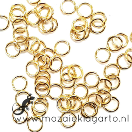 Ringetje metaal Goudkleur 5 mm per 5 gram