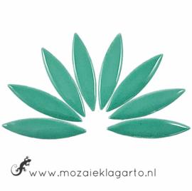 Keramiek bloemblaadjes Groot per 8 Zeegroen 016