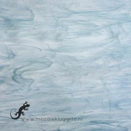 Glasplaat 20 x 20 cm Wit/Koloniaal Blauw Semi Translucent SO838-52st