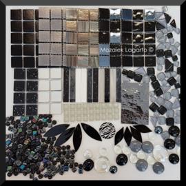 Mozaiekglas mix Aqua in cadeautasje 25-1