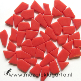 Mozaiek puzzelstukjes Glas 100 gram Oranjerood 106