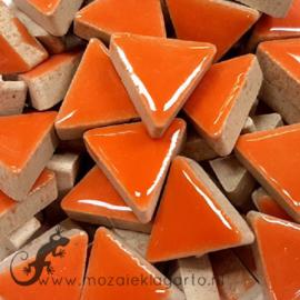 Geglazuurde keramiek driehoekjes 15 mm per 50 gram Oranje 006