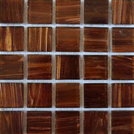 Goudader glastegels Bruin per 25 tegels 036