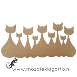 Ondergrond voor mozaiek MDF Kattenfamilie XL 1293
