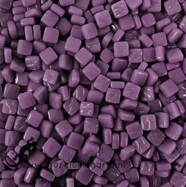 Mozaïek tegeltjes glas 8 x 8 mm Opaal per 50 gram Paars 085