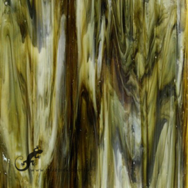 Glasplaat 19 x 29 cm Donkerbruin/Crème Semi Translucent CAG088st