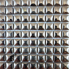 Keramiek tegel 10x10 mm per 81 Zilver 1001