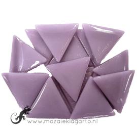 Glasmozaiek Driehoek 29 mm per 100 gram Lila