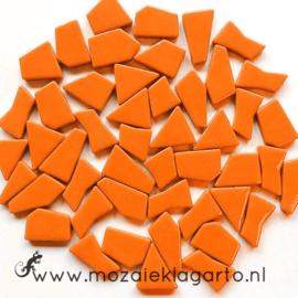 Mozaiek puzzelstukjes Glas 100 gram Oranje 104