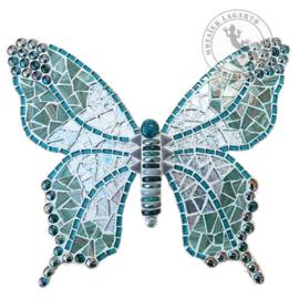 Mozaiekpakket 56 Vlinder Papallona Turquoise