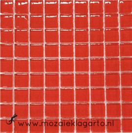 Glastegeltje Murrini Rood per 81 tegeltjes 035