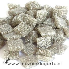 Basis   glastegeltjes 1 x 1 cm per 50 gram Grijs 007